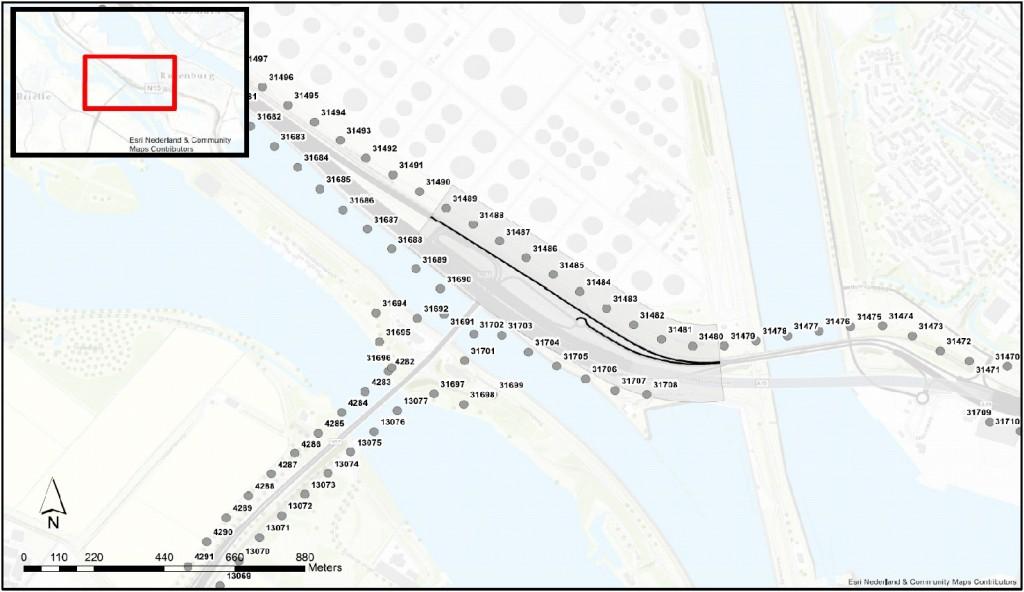 Referentiepunten A15 aansluiting N57